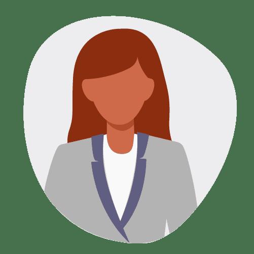 illustration d'une femme en costard gris, qui cherche comment financer sa formation.