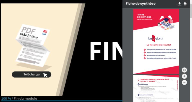exemple de fiche de synthèse - formation IOBSP et IAS de campus babylon.fr
