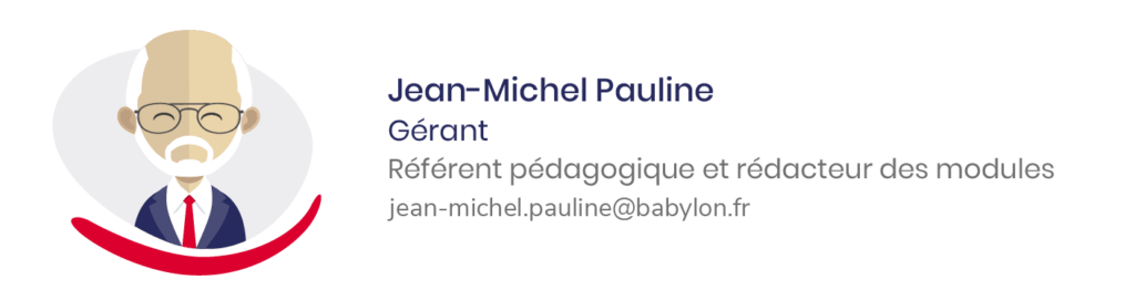 Jean-Michel PAULINE référent pédagogique